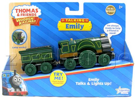 USA TALKING & LIGHT EMILY Thomas Wooden train NEW | eBay